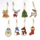 8Pcs DIY Christmas Series Diamond Painting Keychain Hanging Pendant 8 pcs