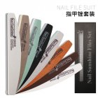 8Pcs Professional Rhombus Nail File Nail Varnish Sets Manicure Tools Nails Accessories 8-piece nail file set
