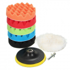 8Pcs/Set Car Polishing Pad 3/4/5/6/7 inch Sponge Buffing Waxing Boat Car Polish Buffer Drill Wheel Polisher Removes Scratches 3 inches
