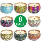 8Pcs/Set Soy Wax Fragrance Candles Set for Home Wedding Birthday Decoration 6.6x4cm