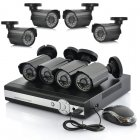 8CH DVR Surveillance System with 8 Cameras