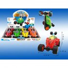 8pcs Stunt Car with Light and Music  Electric Mini Dump Car Rolling Rotating Wheel Vehicle  Truck Kids Toy