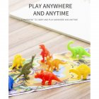8pcs/set Dinosaur Wildlife Model Dinosaur Baby Puzzle Plastic Toys Mini Jungle Animal Toy Set As shown