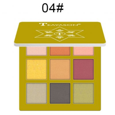 9 Colors Pro Eyeshadow Palette Matte Shimmer Waterproof Long-lasting Eye Shadows 4 gold