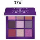 9 Colors Pro Eyeshadow Palette Matte Shimmer Waterproof Long-lasting Eye Shadows 7 dark purple