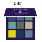 9 Colors Pro Eyeshadow Palette Matte Shimmer Waterproof Long-lasting Eye Shadows 8 dark blue