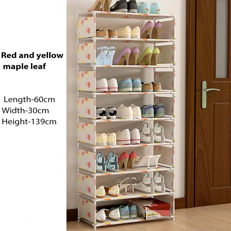 9 Layers Shoes Rack Assemble Home Dustpoof Storage Shoe Cabinet HBY09A