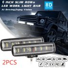 90W 6Inch Convex Lens 6LED Working Light 12V/24V 4x4 Automobile LED Light Bar White light