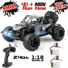 9303E 1:18 Scale Remote Control Car 40+km/h High Speed Off Road Vehicle Toys RC Truck for Kids and Adults 2 batteries
