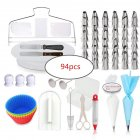 94Pcs/Set Cake Decorating Supplies Kit Baking Set DIY Professional Pastry Tools 94pcs
