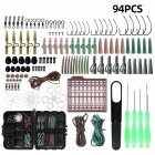94pcs/lot Carp Fishing  Tackle  Kit Box Lead Clips/beads/hooks/tubes/swivels Baiting Terminal Rigs Carp Fishing Tackle Box 94pcs