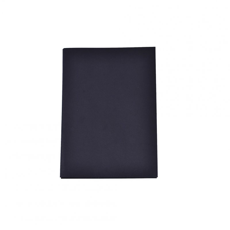 96 Sheets Thicken No Ink Pigment Infiltration White Blank Notebook with Black Cover