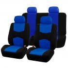 9Pcs Car Seat Covers Set for 5 Seat Car Universal Application 4 Seasons Available Blue