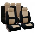 Beige 9Pcs Car Seat Covers For SUV