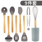 9Pcs/Set Kitchen Utensil Set Silicone Cooking Nonstick Cookware Spatula Spoon Set with plastic tube