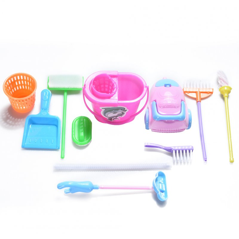 9Pcs Simulation Home Cleaning Tools Playset