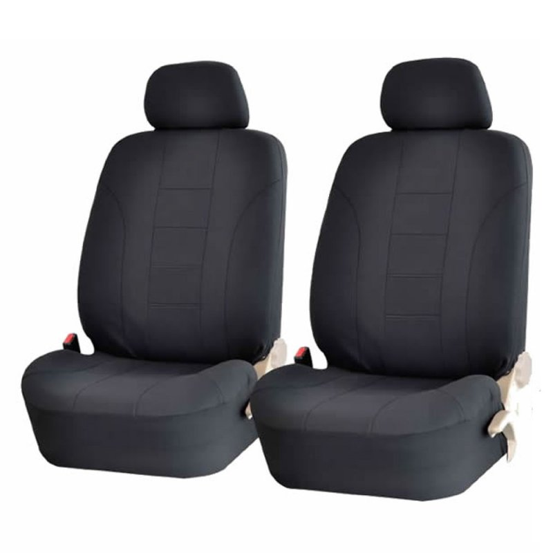 9pcs/4pcs Universal Classic Car Seat Cover Car Fashion Style Seat Cover All black 4pcs/ set