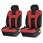 9pcs/4pcs Universal Classic Car Seat Cover Car Fashion Style Seat Cover Black + red 4pcs/ set