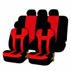 9pcs/4pcs Universal Classic Car Seat Cover Car Fashion Style Seat Cover Black + red 9 pcs/ set