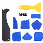 9pcs Silicone Sealant Spreader Spatula  Scraper For Door Caulk  Tool Window Caulking Finishing 9-piece set