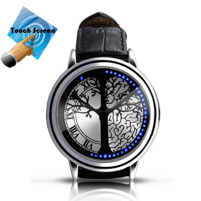 Blue Hybrid Touchscreen LED Watch