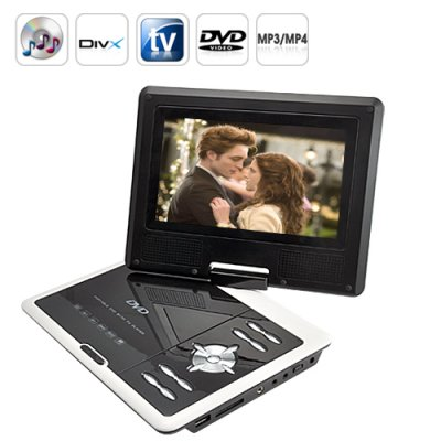 Portable Multimedia DVD Player 7 Inch LCD
