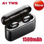 A1 TWS Bluetooth Headset 5.0 Touch Motion Wireless Bluetooth Earphone 1500 mAh black