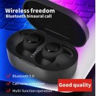 A13 TWS Wireless Earphone Bluetooth 5.0 Stereo Waterproof Noise Reduction Earbuds In Ear Headset black