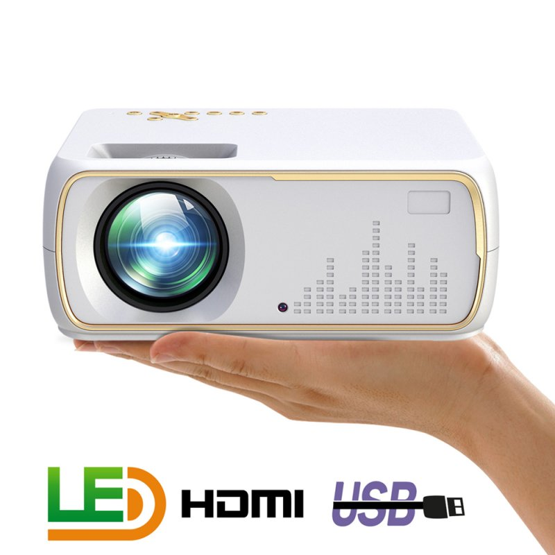 A20 Mini Projector HD 1080P TV Projector Home Cinema Projector  Basic white US plug