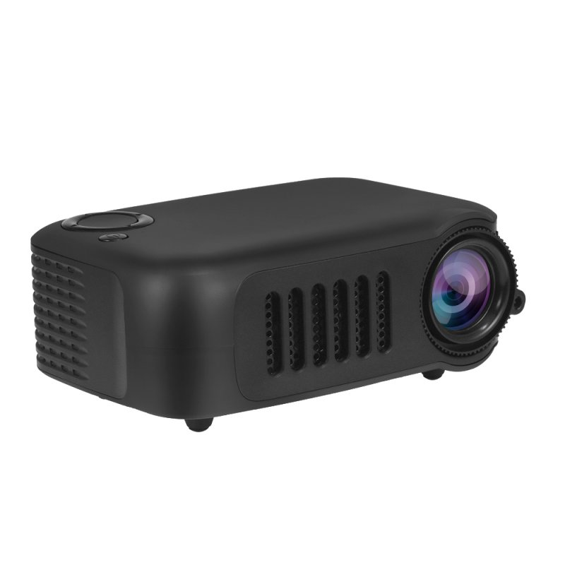 A2000 Mini Portable Digital Projector Home Use 720P High Definition Projector black_EU Plug
