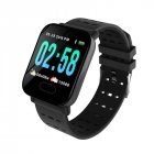 A6 IP67 Waterproof Smart Watch Heart Rate Monitor Bracelet Wristband for Android iOS black