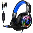 A60 Gaming Headset Surround Stereo Gaming Headphones with Mic LED Lights Works for PS4 Xbox  3.5 Regular Edition