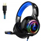 A60 Gaming Headset Surround Stereo Gaming Headphones with Mic LED Lights Works for PS4 Xbox  7.1 channel