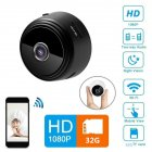 A9 Mini WiFi 1080P Camera Phone Remote Surveillance Home Security Wireless IP Night Vision Camera  Black