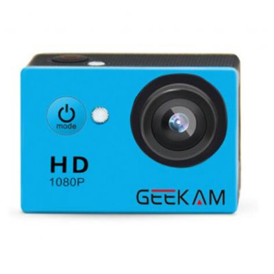 GEEKAM A9 HD 1080P Waterproof Camera Blue
