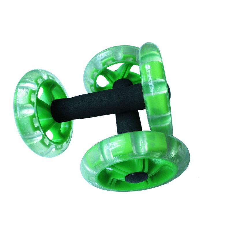 AB Wheel Rollers Four-wheeled Core Abdominal Wheels Workout for Ab Training Gym Home  green