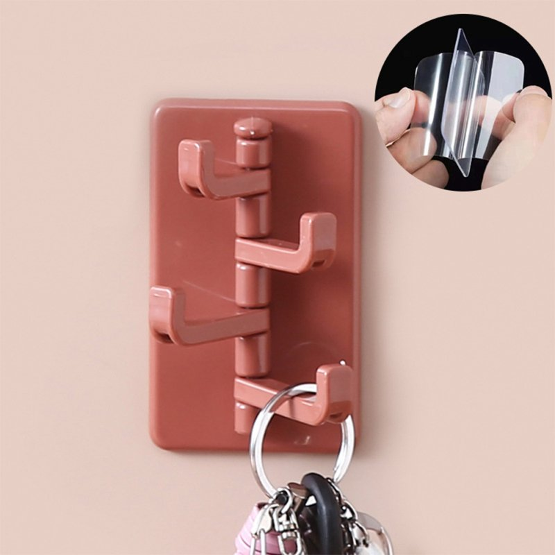 ABS Creative Wall Hanging Nail-free Door Hook Bathroom Kitchen Hanger Dark Skin Color