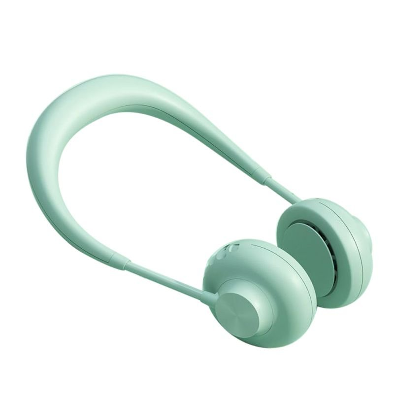 ABS Material Hand-free Mini Neck Band Lazy Usb Sports Rechargeable Summer Halter Cover Sports Fan green