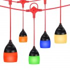 AC 100-240V 12LED F-12 Globe String Light Indoor Outdoor Colors Hanging Decorative Lamps Warm White_U.S. plug