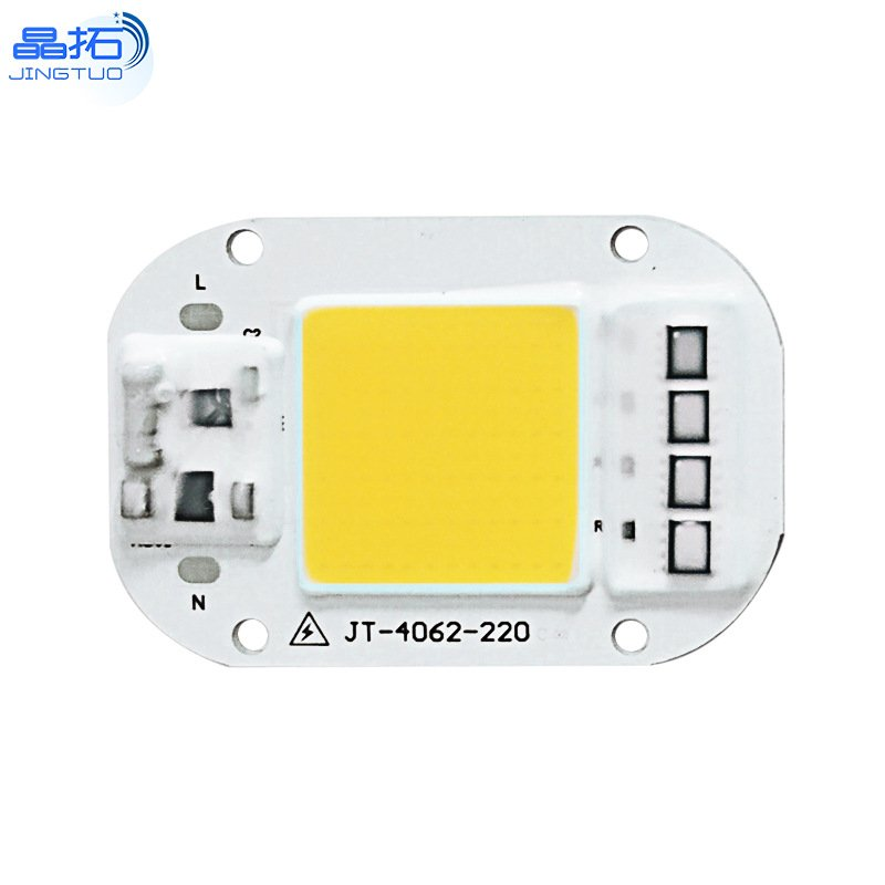 AC 220V 20W/30W/50W Free Driver High Pressure LED Chip COB Light Source 220V-30W-3000K