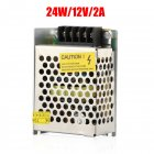 AC 220V tO DC 12V Switch Power Supply Driver Adapter LED Strip Light  As shown_24 watts 12 volts