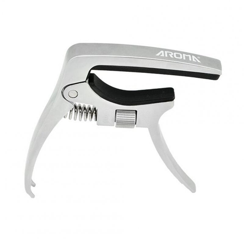 AC-30Guitar Capo Free Clamping Force Adjustment Capo for Folk Guitar and Electric Guitar Silver