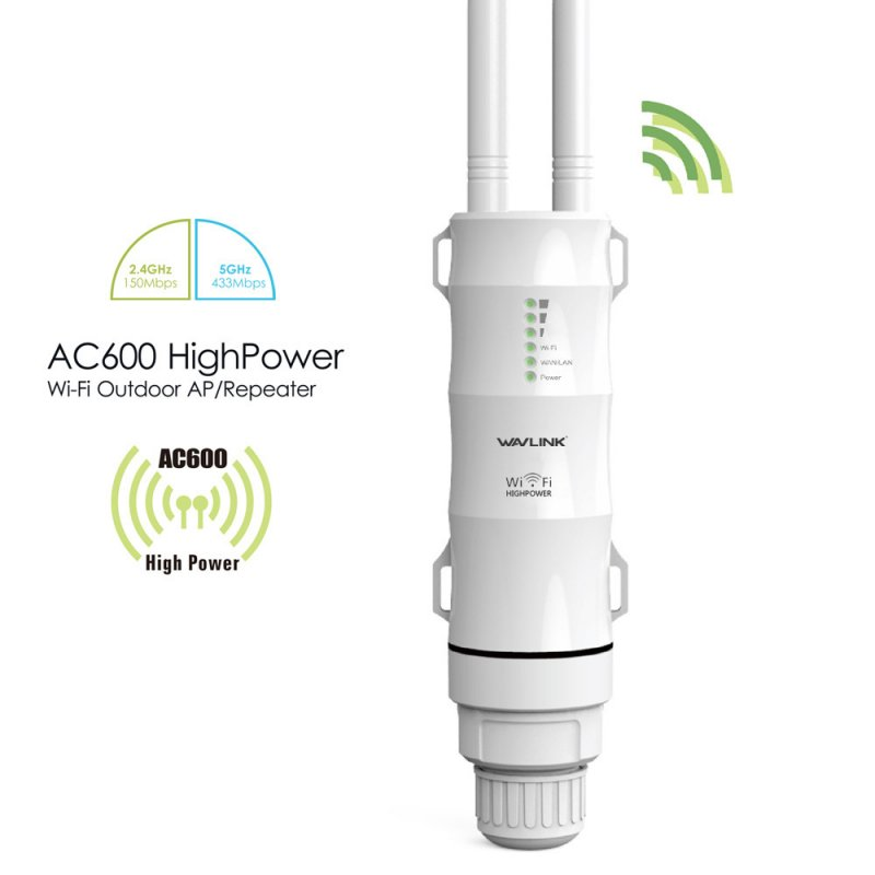 AC600 Outdoor Wifi AP/ Repeater / WISP High Power 2.4GHz/5Ghz Wifi Router with Dual Antenna US plug