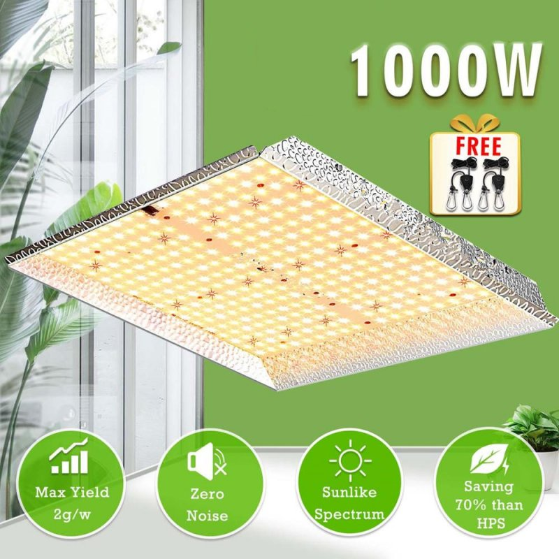 AC85-265V 1000W Led Plant Growth Hydroponic Indoor Vegetables And Flowers Full Spectrum Lamp  British regulatory