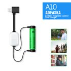 ADEASKA A10 18650 Battery Charger for Li-ion Batteries Multifunction Magnetic USB Charger Mini Charging/Discharging Power Bank white