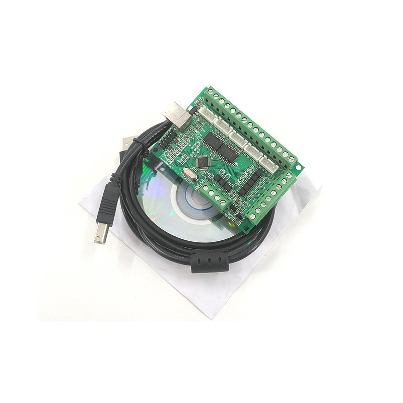 AM9587 DL45 5-Axis USB MACH3 CNC Wiring Board 100KHz Motion Controller Driver  green