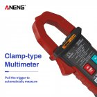 ANENG ST204 4000Counts Full Intelligent Automatic Range Digital Current Multimeter(AUTO) red