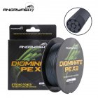 ANGRYFISH Diominate PE X8 Fishing Line 500M/547YDS 8 Strands Braided Fishing Line Multifilament Line Black 4.0#:0.33mm-50LB