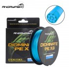 ANGRYFISH Diominate PE X8 Fishing Line 500M/547YDS 8 Strands Braided Fishing Line Multifilament PE Line Blue 3.0#:0.28mm-40LB