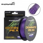 ANGRYFISH Diominate PE X8 Fishing Line 500M/547YDS 8 Strands Braided Fishing Line Multifilament Line Purple 2.0#:0.23mm/30LB